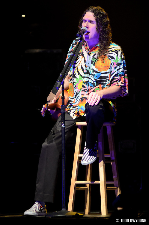 "Weird Al Yankovic performs on June 3, 2011at the Family Arena in St. Charles, Missouri in support of his album ""Alpocalypse."" © 2011 Todd Owyoung."