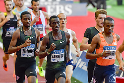 July 20, 2018 - Monaco, France - 1000 metres homme - Thiago Do Rosario Andre (Bresil) - Solomon Lekuta (Kenya) - Andreas Kramer (Suede) - George Meitamei Manangoi  (Credit Image: © Panoramic via ZUMA Press)