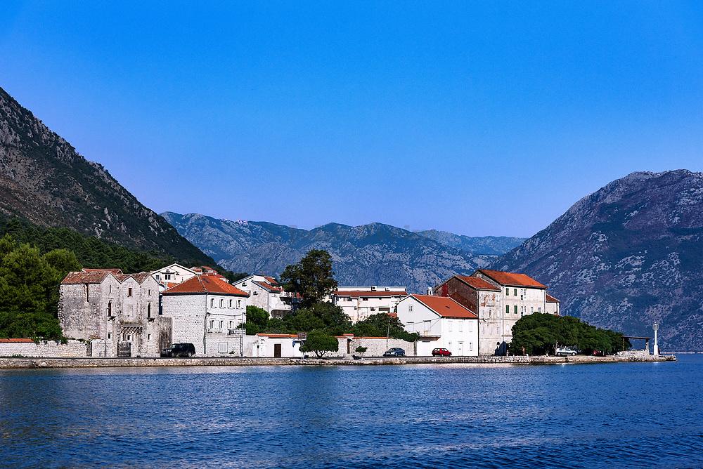 Charming coastal village along the Bay of Kotor, Montenegro