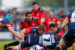 Bristol Rugby Flanker Marco Mama looks on - Mandatory byline: Rogan Thomson/JMP - 18/05/2016 - RUGBY UNION - Castle Park - Doncaster, England - Doncaster Knights v Bristol Rugby - Greene King IPA Championship Play Off FINAL 1st Leg.