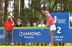 January 19, 2019 - Lake Buena Vista, FL, U.S. - LAKE BUENA VISTA, FL - JANUARY 19: Lexi Thompson of the United States sets up her tee shot on hole 2 during the third round of the Diamond Resorts Tournament of Champions on January 19, 2019, at Tranquilo Golf Course at Fours Seasons Orlando in Lake Buena Vista, FL. (Photo by Roy K. Miller/Icon Sportswire) (Credit Image: © Roy K. Miller/Icon SMI via ZUMA Press)