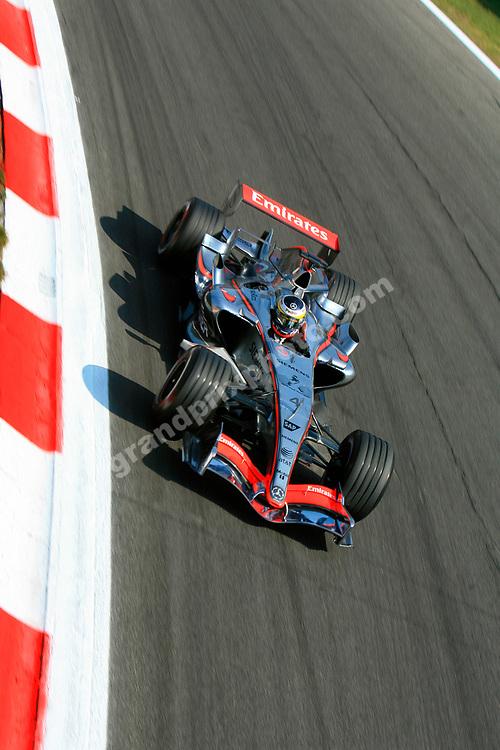 Pedro de la Rosa (McLaren-Mercedes) during practice for the 2006 Italian Grand Prix at Monza. Photo: Grand Prix Photo