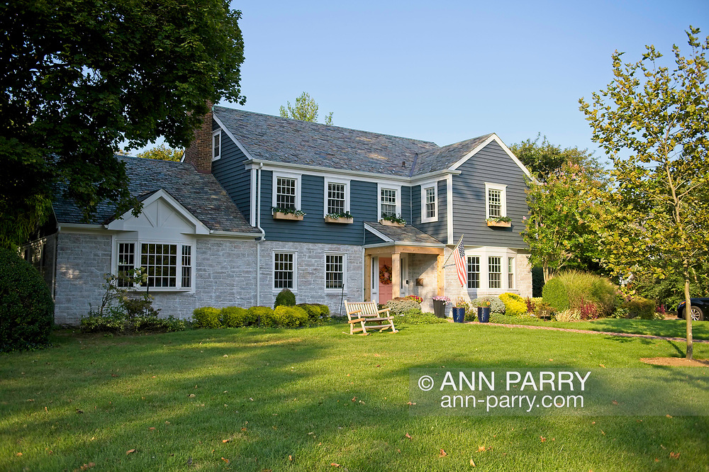 Rockville Centre, New York, U.S. September 22, 2020. Ruth Bader and Martin Ginsburg were married in 1954 in his family's Colonial home in Rockville Centre, Long Island. Brian and Chloe Schiele, the current owners, bought the house in 2016 from Martin Ginsburg's sister and brother-in-law, Claire and Edward Steipleman.