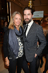 SABRINA GUINNESS and JACK GUINNESS at Fashions for The Future presented by Oceana's Junior Council held at Phillips Auction House, 30 Berkeley Square, London on 19th March 2015.