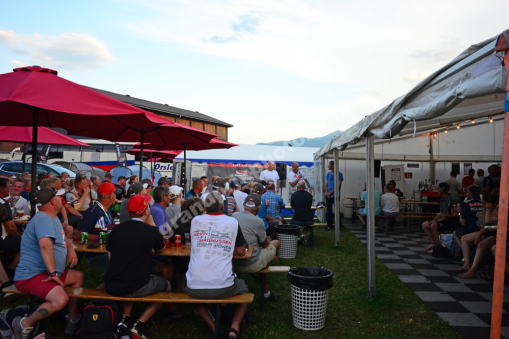Grand Prix Tours Race Night with John Nielsen, Peter Nygaard and Ole Schack before the 2017 Austrian Grand Prix at the Red Bull Ring in Spielberg. Photo: Grand Prix Photo