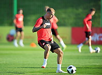 ARLAMOW, POLAND - MAY 30: Kamil Grosicki during a training session of the Polish national team at Arlamow Hotel during the second phase of preparation for the 2018 FIFA World Cup Russia on May 30, 2018 in Arlamow, Poland. MB Media
