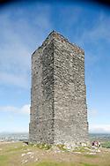 Hiking the Raad ny Foillan coastal path or 'Way of the Gull', Isle of Man. Pictured, Corrin's Tower near Peel. © Rudolf Abraham