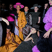 Models backstage after the Christian Siriano fall 2020 show at Spring Studios on February 6, 2020 in Manhattan, New York. John Taggart for The New York Times