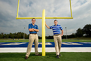Dr. Kevin Krieger teaches Accounting and Finance and Dr. Justin Davis teaches management and MIS in the college of business <br /> at the University of West Florida Monday September 26, 2016 in Pensacola, Florida.(Michael Spooneybarger/ CREO)