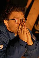 Al Franken, emotional at a USO show Al Franken, USO tour