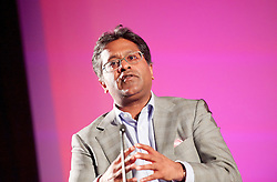 Lalit Modi speaking at a Q & A at the London Indian Film Festival 2015, BFI, Southbank, London, Great Britain <br /> 23rd July 2015 <br /> following the world premier screening of Death of a Gentleman - a controversial documentary film about the future of Test Cricket, <br /> <br /> Lalit Modi is an Indian businessman and cricket administrator. He was the first Chairman and Commissioner of the Indian Premier League, and ran the tournament for three years until 2010. <br /> <br /> Photograph by Elliott Franks