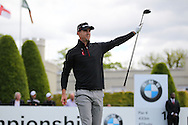 Kevin Pietersen on the 1st hole at the BMW PGA Championship Celebrity Pro-Am Challenge at the Wentworth Club, Virginia Water, United Kingdom on 20 May 2015
