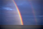 Rainbow on Lake WInnipeg after storm<br />Hecla Provincial Park<br />Manitoba<br />Canada