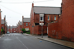 Red brick back to back terraced houses built for miners; Dawdon; Co Durham UK