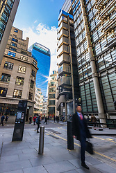London's financial district known as the Square Mile of 'The City' as European markets follow US and Asian markets lower on Tuesday as investors continued to dump shares. London, February 06 2018.