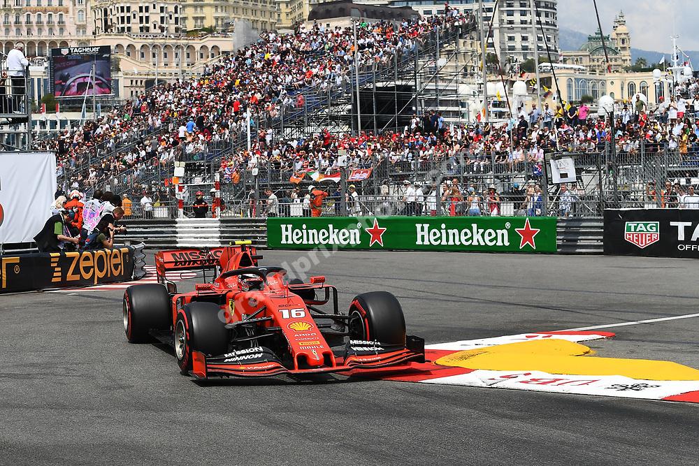 Charles Leclerc (Ferrari) during qualifying before the 2019 Monaco Grand Prix. Photo: Grand Prix Photo