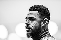 WATFORD, ENGLAND - OCTOBER 27: Andre Gray of Watford FC during the Premier League match between Watford FC and Huddersfield Town at Vicarage Road on October 27, 2018 in Watford, United Kingdom. (Photo by Sebastian Frej/MB Media/Getty Images)