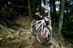 Eva Jagodic during Cross Country XC Mountain bike race for Slovenian National Championship in Kamnik, on July 12, 2015 in Kamnik,  Slovenia. Photo by Vid Ponikvar / Sportida