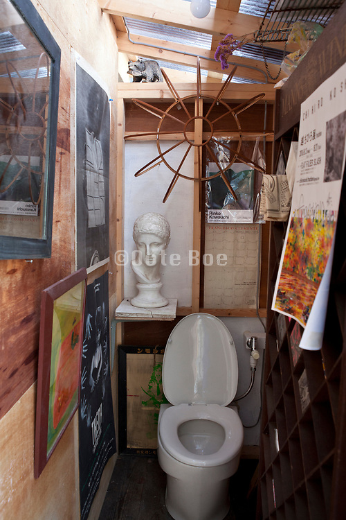 toilet room with many things