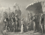 'First Anglo-Sikh War 1845-1846: Maharaja Duleep Singh (1838-1893) submitting to Sir Henry Hardinge, Governor-General of India, 19 February 1846.'