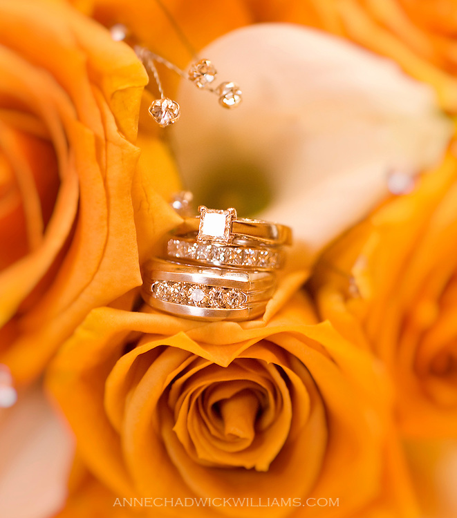 Bride and groom wedding rings at Scottish Rite Temple in Oakland on June 24, 2011
