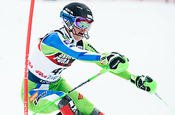 """Klara Livk (SLO) competes during 1st Run of FIS Alpine Ski World Cup 2017/18 Ladies' Slalom race named """"Snow Queen Trophy 2018"""", on January 3, 2018 in Course Crveni Spust at Sljeme hill, Zagreb, Croatia. Photo by Vid Ponikvar / Sportida"""