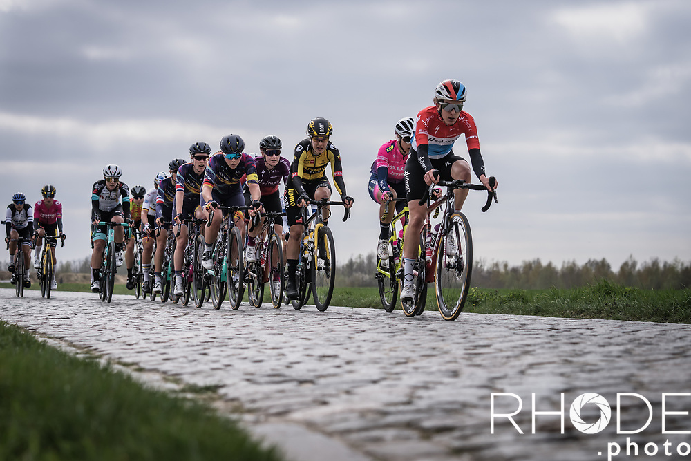 Christine Majerus (LUX/SD Worx)<br /> <br /> 18th Ronde van Vlaanderen 2021<br /> Elite Womens Race (1.WWT)<br /> <br /> One Day Race from Oudenaarde to Oudenaarde 152km<br /> <br /> ©RhodePhoto