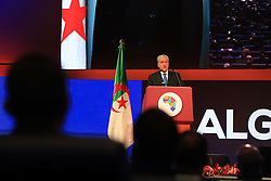 December 3, 2016 - Algiers, Argentina - Prime Minister Abdelmalek Sellal delivers a speech during the opening ceremony of the the African Investment and Business Forum, on December 3, 2016 in Algiers, Algeria. More than 2,000 delegates from across Africa attended the African Investment and Business Forum, aimed at boosting the continent's economic potential. (Credit Image: © Billal Bensalem/NurPhoto via ZUMA Press)