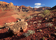 Desert landscape at Cardenas in the interior of the Grand Canyon