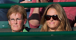 22.06.2011, Wimbledon, London, GBR, Wimbledon Tennis Championships, im Bild Andy Murray's mother, Judith (Judy) Murray, and girlfriend Kim Sears, look on during the Gentlemen's Singles 2nd Round match on day three of the Wimbledon Lawn Tennis Championships at the All England Lawn Tennis and Croquet Club, EXPA Pictures © 2011, PhotoCredit: EXPA/ Propaganda/ *** ATTENTION *** UK OUT!