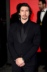 Adam Driver attending the european premiere of Star Wars: The Last Jedi held at The Royal Albert Hall, London.