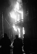 Flames engulf the British Embassy building on Merrion Square as it is burnt to the ground in protest at the Bloody Sunday killings in Derry.<br /> <br /> 02/02/1972