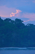 Sunrise over the coastline of Manuel Antonio National Park, one of the smallest and most visited parks in Costa Rica.