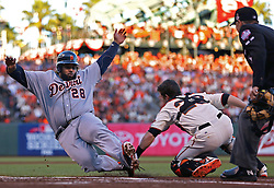 Buster Posey tags out Prince Fielder, 2012