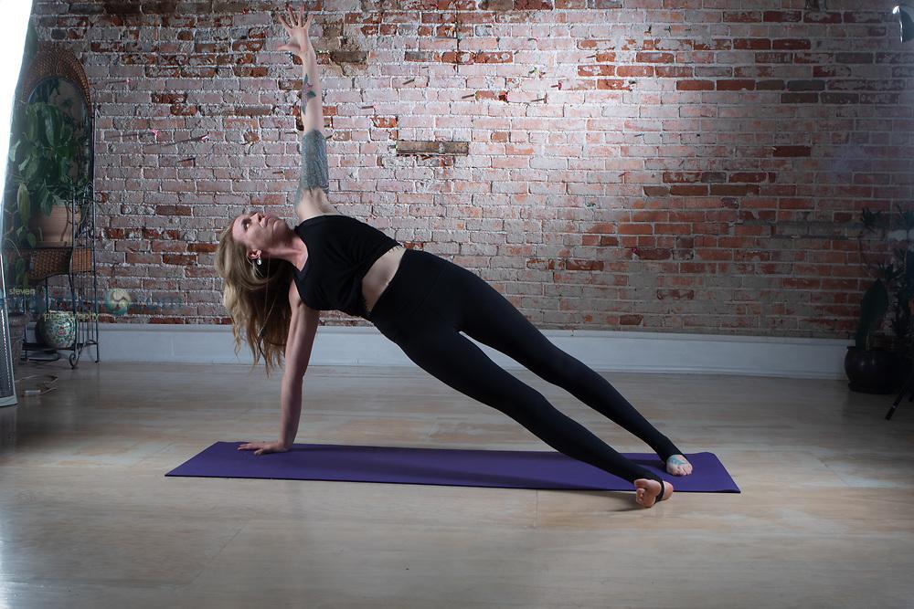 Amanda Atkinson doing Yoga