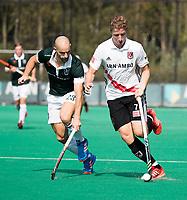 ROTTERDAM - Jan Willem Buissant (A'dam) met Nick Catlin (R'dam) bij de finale Rotterdam-Amsterdam van de ABN AMRO cup 2017 . COPYRIGHT KOEN SUYK