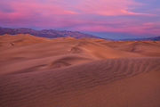 Mesquite Flat Sand Dunes at Sunset in Death Valley National Park California