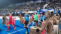 BHUBANESWAR -  Hockey World League finals ,  . Argentina v Spain . Miguel Delas (Esp), Matias Paredes (Arg) . COPYRIGHT KOEN SUYK