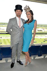 TAMARA ECCLESTONE and her husband JAY RUTLAND at the first day of the 2014 Royal Ascot Racing Festival, Ascot Racecourse, Ascot, Berkshire on 17th June 2014.