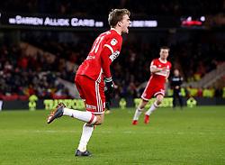 Patrick Bamford of Middlesbrough celebrates scoring a goal to make it 2-0 - Mandatory by-line: Robbie Stephenson/JMP - 02/03/2018 - FOOTBALL - Riverside Stadium - Middlesbrough, England - Middlesbrough v Leeds United - Sky Bet Championship