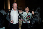 HANS ULRICH OBRIST; ALICE RAWTHORNE; MAUREEN PALEY, Turner Prize 2010. Tate Britain. Millbank. London. 6 December 2010. -DO NOT ARCHIVE-© Copyright Photograph by Dafydd Jones. 248 Clapham Rd. London SW9 0PZ. Tel 0207 820 0771. www.dafjones.com.