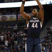Rodney Purvis, UConn, shoots for three during the UConn Huskies Vs Tulsa Semi Final game at the American Athletic Conference Men's College Basketball Championships 2015 at the XL Center, Hartford, Connecticut, USA. 14th March 2015. Photo Tim Clayton