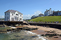 GV, general view, Arcadia bathing area, Portrush, Co Antrim, N Ireland, UK, 201406213175<br /> <br /> Copyright Image from Victor Patterson, 54 Dorchester Park, Belfast, UK, BT9 6RJ<br /> <br /> t1: +44 28 9066 1296 (from Rep of Ireland 048 9066 1296)<br /> t2: +44 28 9002 2446 (from Rep of Ireland 048 9002 2446)<br /> m: +44 7802 353836<br /> <br /> victorpattersonbelfast@gmail.com<br /> www.victorpatterson.com<br /> <br /> Please see my Terms and Conditions of Use at http://www.c1382010.myzen.co.uk/pdf/Terms%20&%20Conditions.pdf  It is IMPORTANT that you familiarise yourself with them.<br /> <br /> Images used on the Internet incur an additional cost and must be visibly watermarked i.e. ©Victor Patterson within the body of the image and copyright metadata must not be deleted. Images used on the Internet have a size restriction of 4kbs and are chargeable at rates available at victorpattersonbelfast@gmail.com.<br /> <br /> This image is only available for the use of the download recipient i.e. television station, newspaper, magazine, book publisher, etc, and must not be passed on to any third party. It is also downloaded on condition that each and every usage is notified within 7 days to victorpattersonbelfast@gmail.com.<br /> <br /> The right of Victor Patterson to be identified as the author is asserted in accordance with The Copyright Designs And Patents Act (1988). All moral rights are asserted.