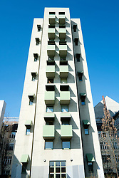 Kreuzberg Tower residential apartment building designed by John Hejduk in Berlin Germany