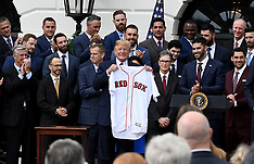 President Trump welcomes the 2018 World Series Champions The Boston Red Sox - 09 May 2019