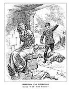 """Oppression and Suppression. Nazi Bully. """"My will is the will of Germany."""" (German heroic legend Brunnhilde has been bound and gagged while a Nazi has beaten to death a civilan man and burnt his house)"""