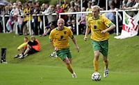Fotball<br /> Treingskamp Friendly<br /> 19.07.08<br /> Sjövalla Stadion<br /> Ahlafors IF - Norwich City<br /> Luke Chadwick - Matty Pattison<br /> Foto - Kasper Wikestad