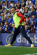 Charlie Adam of Stoke City warms up on the touchline. Premier league match, Everton v Stoke city at Goodison Park in Liverpool, Merseyside on Saturday 27th August 2016.<br /> pic by Chris Stading, Andrew Orchard sports photography.