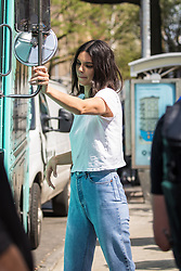 Kendall Jenner spotted doing a photoshoot for Tiffany & Co. in New York City. 03 May 2018 Pictured: Kendall Jenner. Photo credit: MEGA TheMegaAgency.com +1 888 505 6342