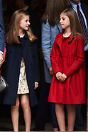 041617 Spanish Royals attended the Easter Mass at the Cathedral of Palma de Mallorca